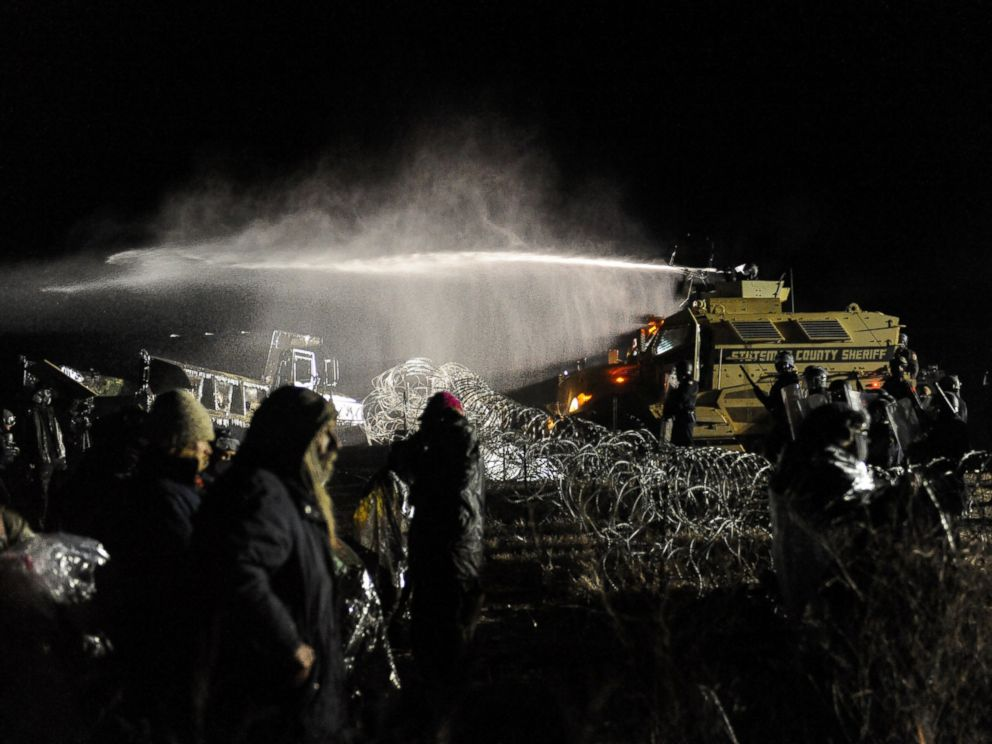 Water protectors being attacked